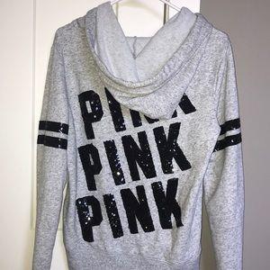PINK Victoria's Secret Tops - VS pink oversized zip up